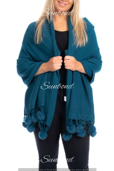 Open wrap sequin poncho